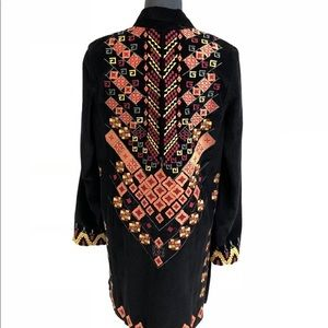 Miss Me Long Sleeve Embroidered Jacket